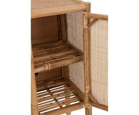 Table de chevet en cannage style bohème LOMBO