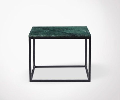 DREZ Green Marble Top Coffee Table - 60cm