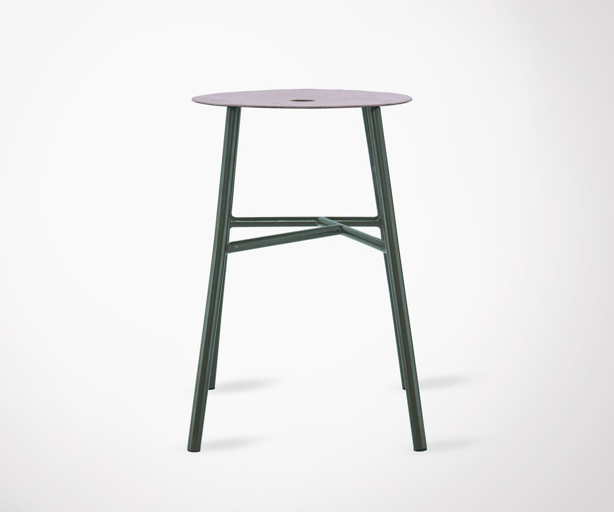 Tabouret Bar Metal Vert Industriel House Doctor