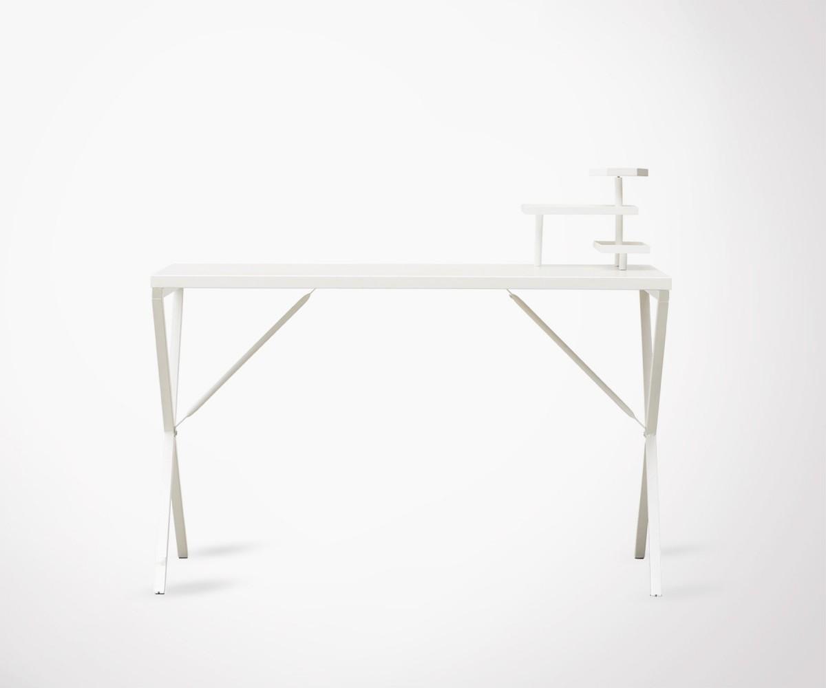 Bureau design en m tal blanc id al loft 120cm house doctor - Bureau style atelier ...