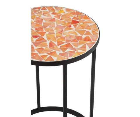 Set de 2 tables d'appoint intérieur extérieur mosaïque BOGOTA