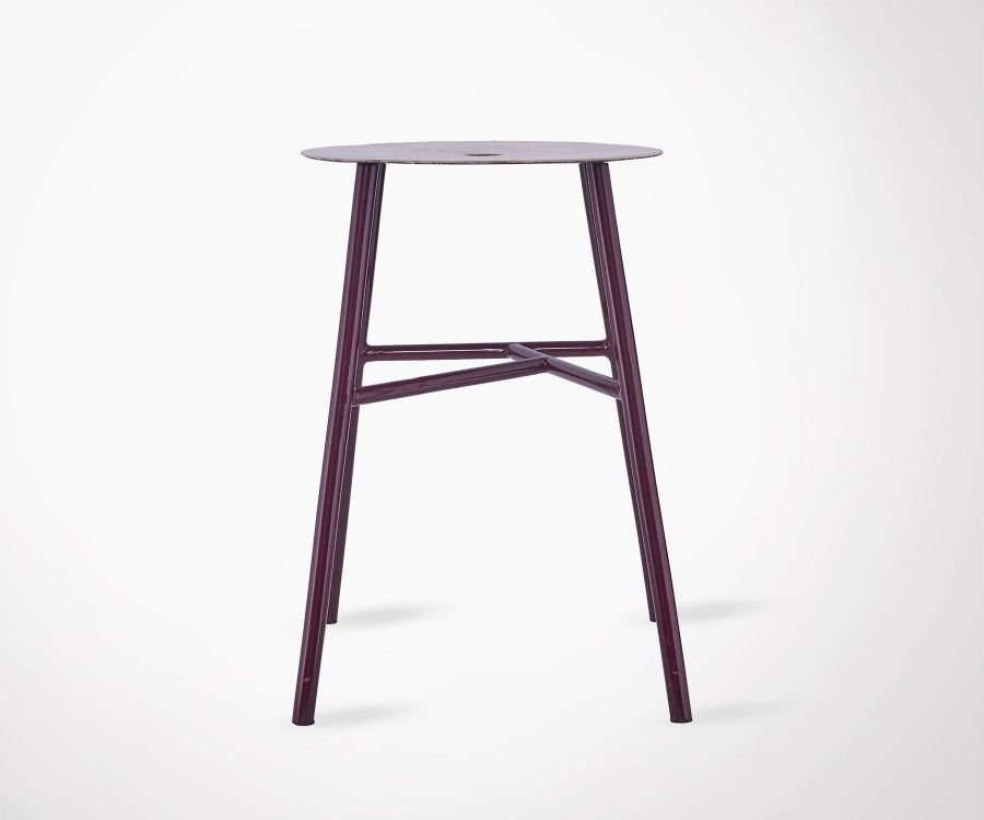 tabouret design de bar metal bordeaux house doctor. Black Bedroom Furniture Sets. Home Design Ideas