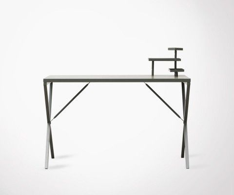 Army Green Industrial Metal Design Desk TRAVIS - 120cm