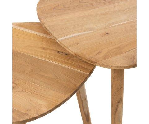 Tables basses gigognes en bois POJI
