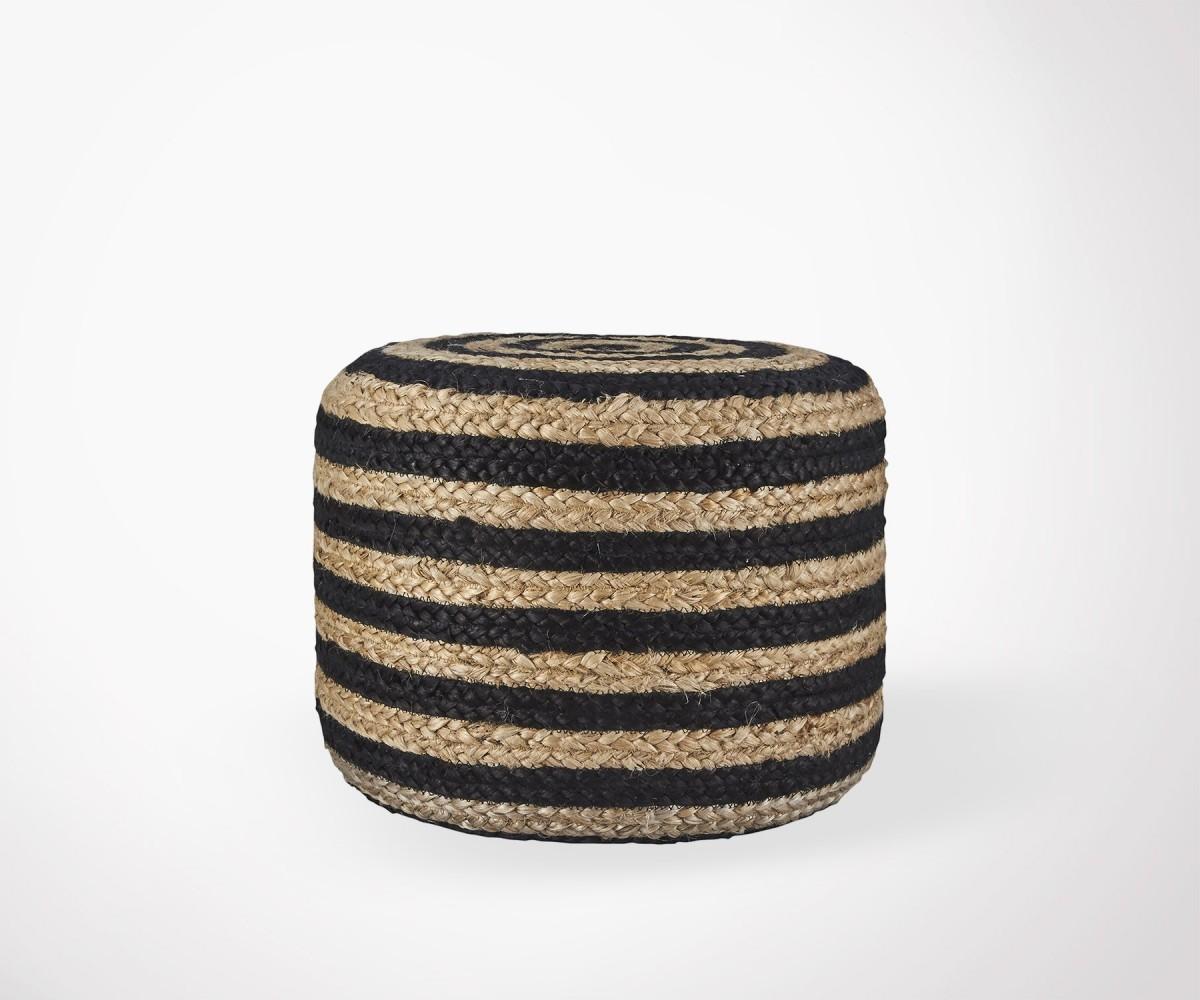 pouf salon design ethnique en jute naturel house doctor. Black Bedroom Furniture Sets. Home Design Ideas