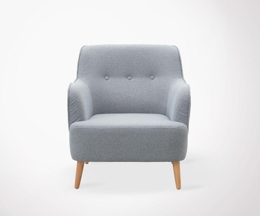 fauteuil salon tissu rembourr gris house doctor. Black Bedroom Furniture Sets. Home Design Ideas