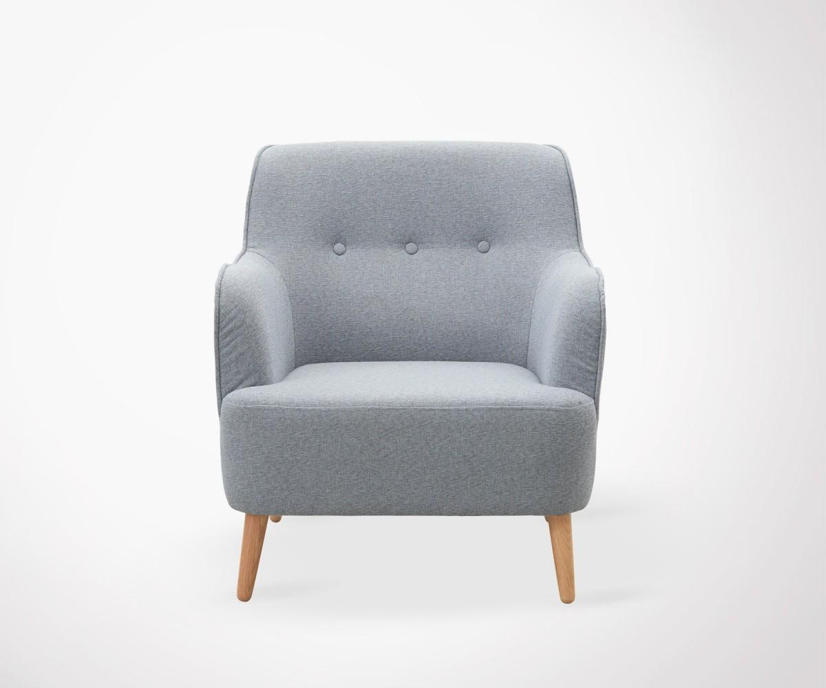 Fauteuil salon tissu rembourr gris house doctor for House pour fauteuil