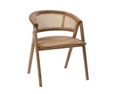 Chaise rétro en bois et cannage JOSEPHINE