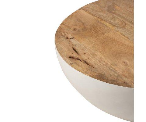 Table basse ronde 90cm bois de manguier RAFIK