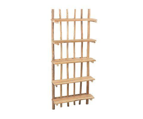 Étagère bois naturel 5 étages WODY