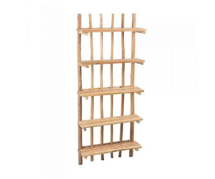 Étagère bois naturel 5 étages WODY - J-line