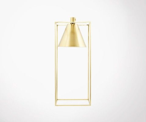 Gold Metal Design Table Lamp KUBIX