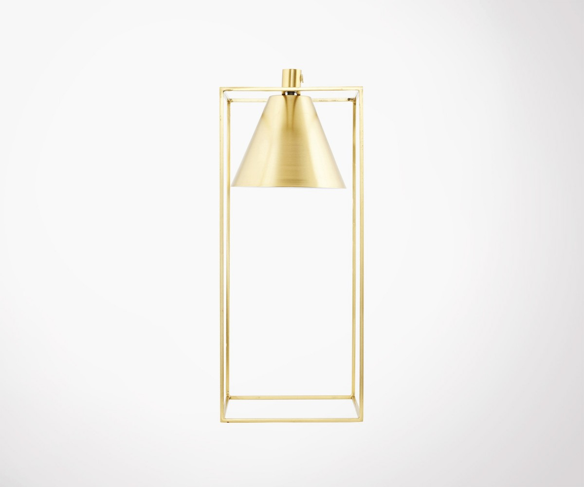 Gold Iron Kubix Table Lamp By House Doctor
