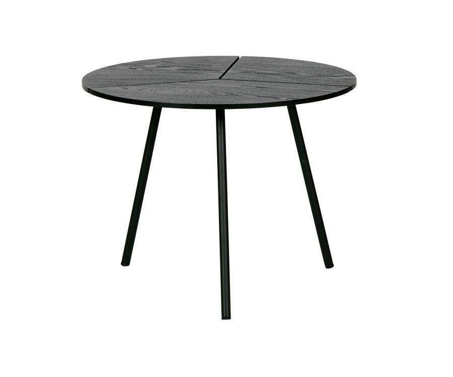 Petite table basse chêne et métal 38x48cm RODI