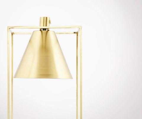 Lampe à poser métal or KUBIX