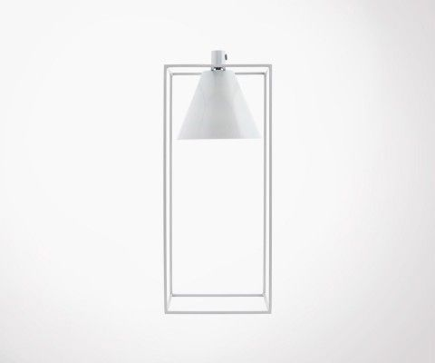 Iron White And Grey Design Table Lamp KUBIX