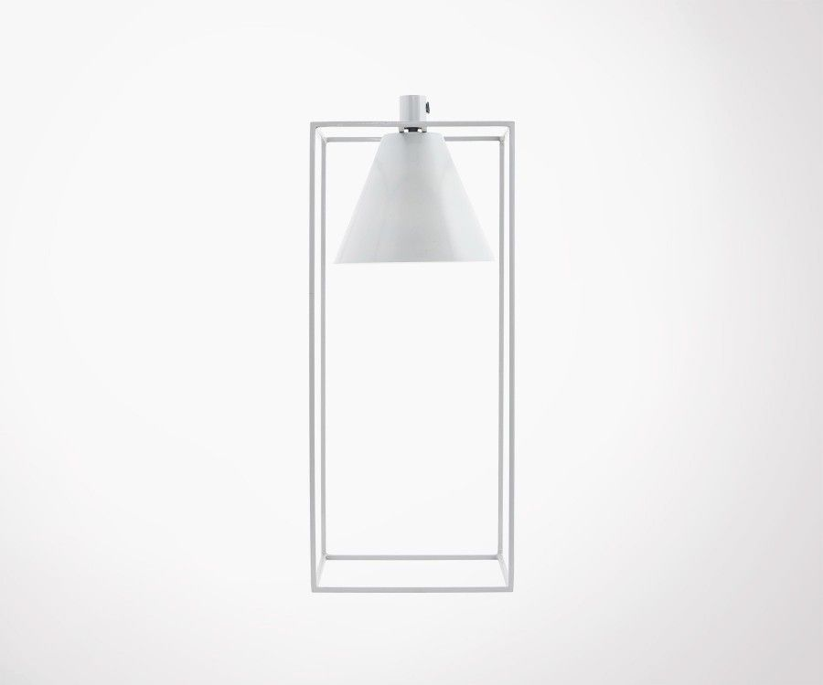 Light Grey Design Metal Kubix Table Lamp House Doctor