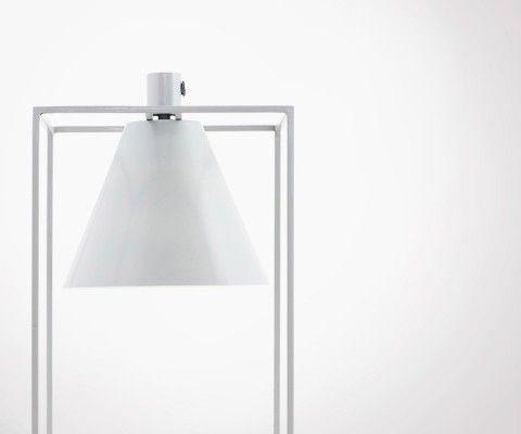 Lampe à poser métal gris blanc KUBIX