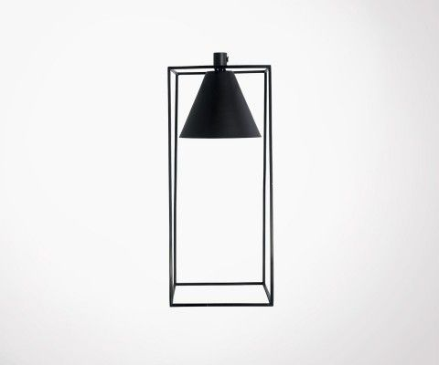 Modern black metal table lamp KUBIX