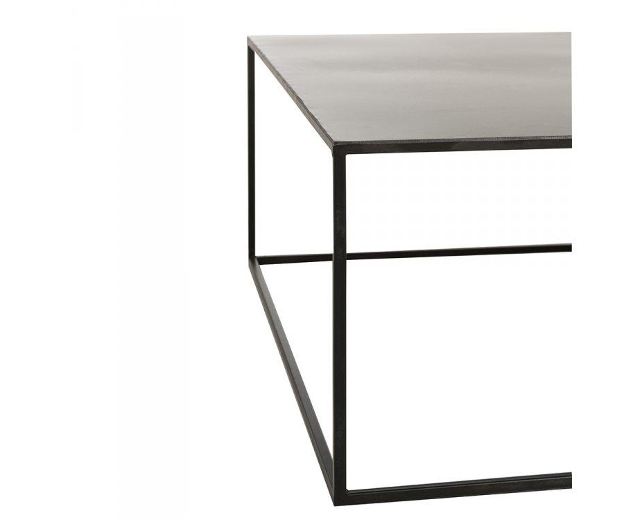 Table basse carrée minimaliste en métal noir CABEZA