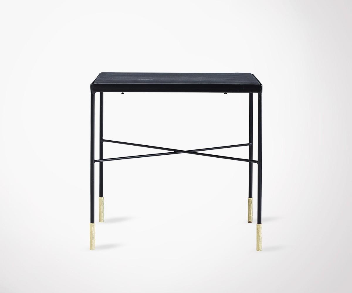 Table Basse Design Métal Pied Dorés House Doctor