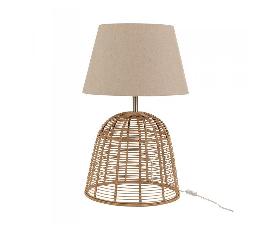 Lampe à poser en bambou avec abat-jour NOCHE