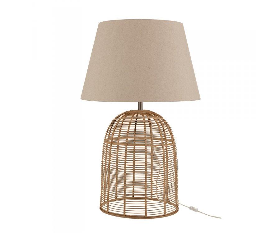 Grande lampe à poser design en bambou NOCHE