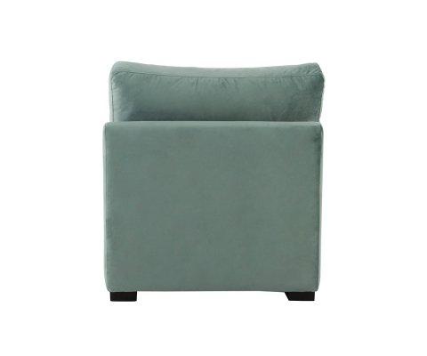Section fauteuil pour canapé à créer en velours SOL
