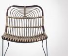 Chaise extérieur rotin et métal style ethnique EKAWAM