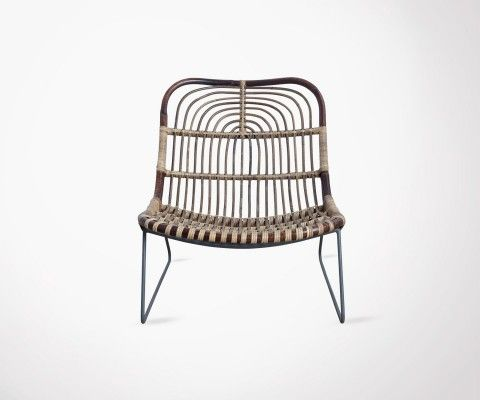 Outdoor Rattan Ethnic Look Design Chair EKAWAM