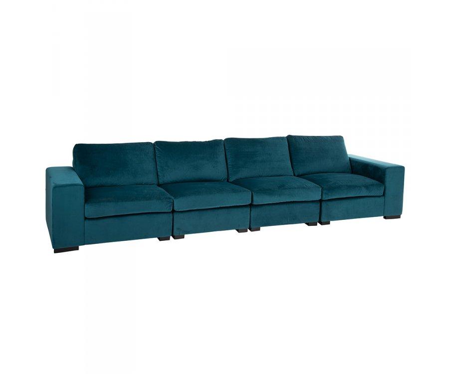 Canapé douillet 212cm en velours colvert VIVIR