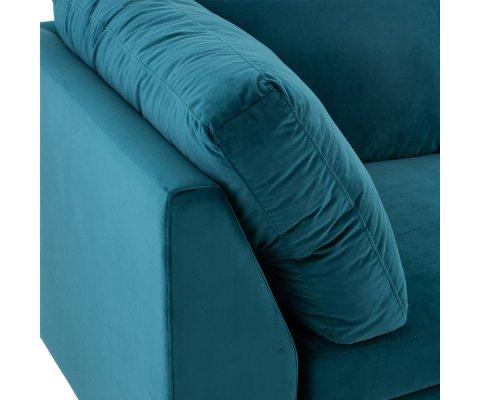 Section angle pour canapé en velours colvert VIVIR