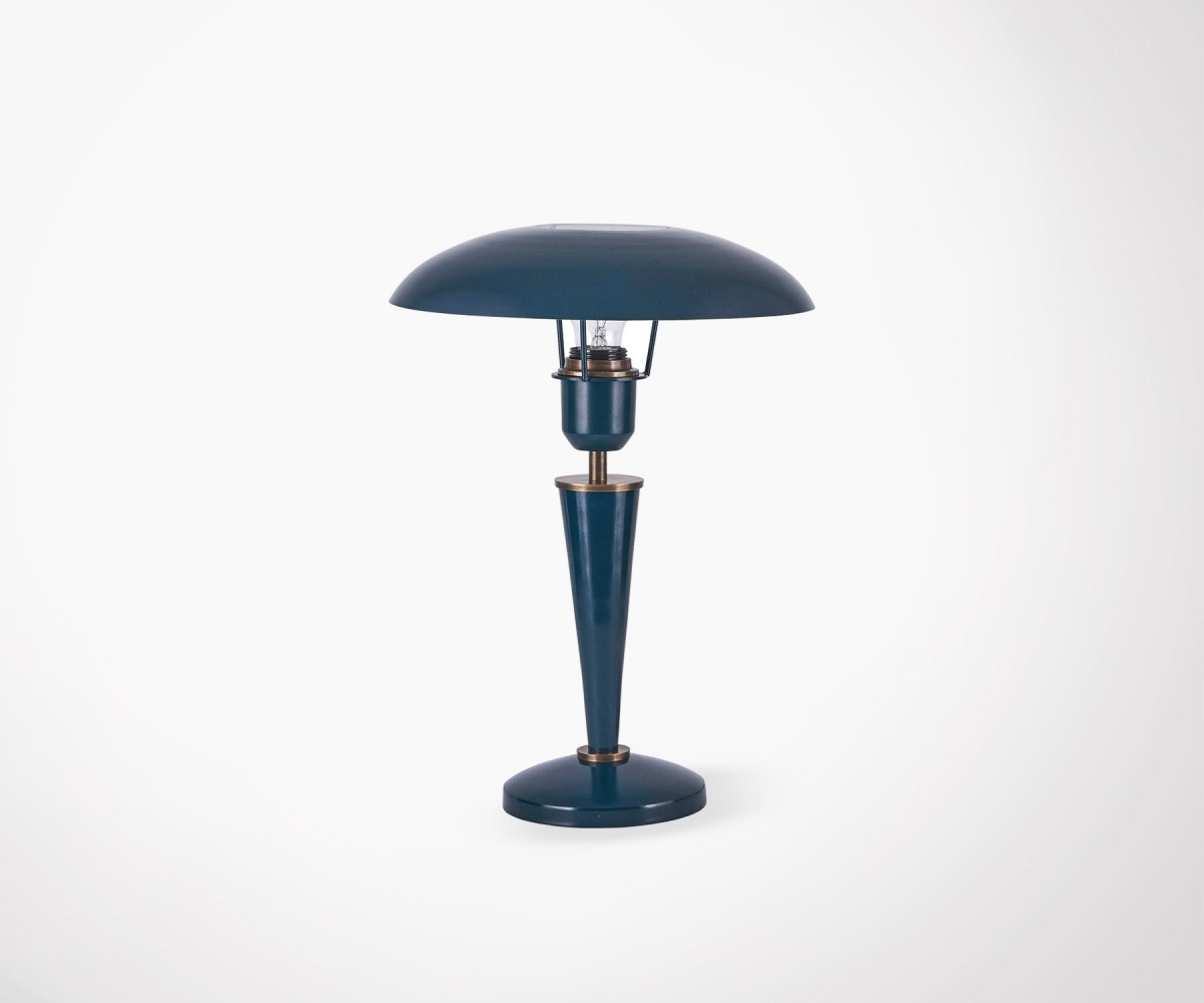 lampe de table design en m tal bleu vintage house doctor. Black Bedroom Furniture Sets. Home Design Ideas