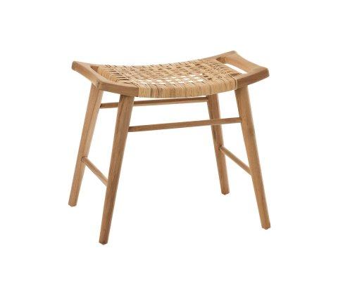 Petit tabouret en bois de teck TABOU