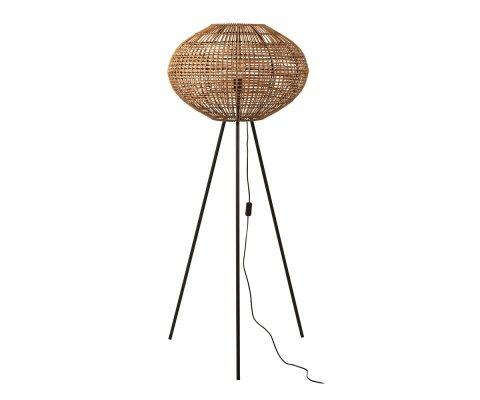 Lampadaire 150cm bohème en rotin TREPOR