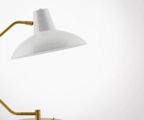 Lampe de bureau vintage blanche et dorée HAMM