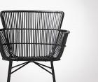 Chaise salle à manger rotin noir COON