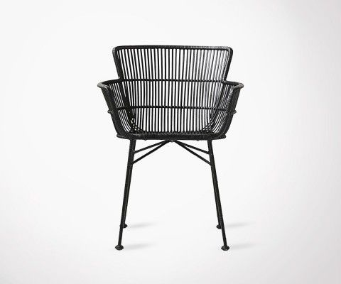 Black Rattan Dining Chair COON