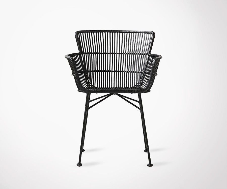 Real Black Rattan Design Dining Chair From House Doctor