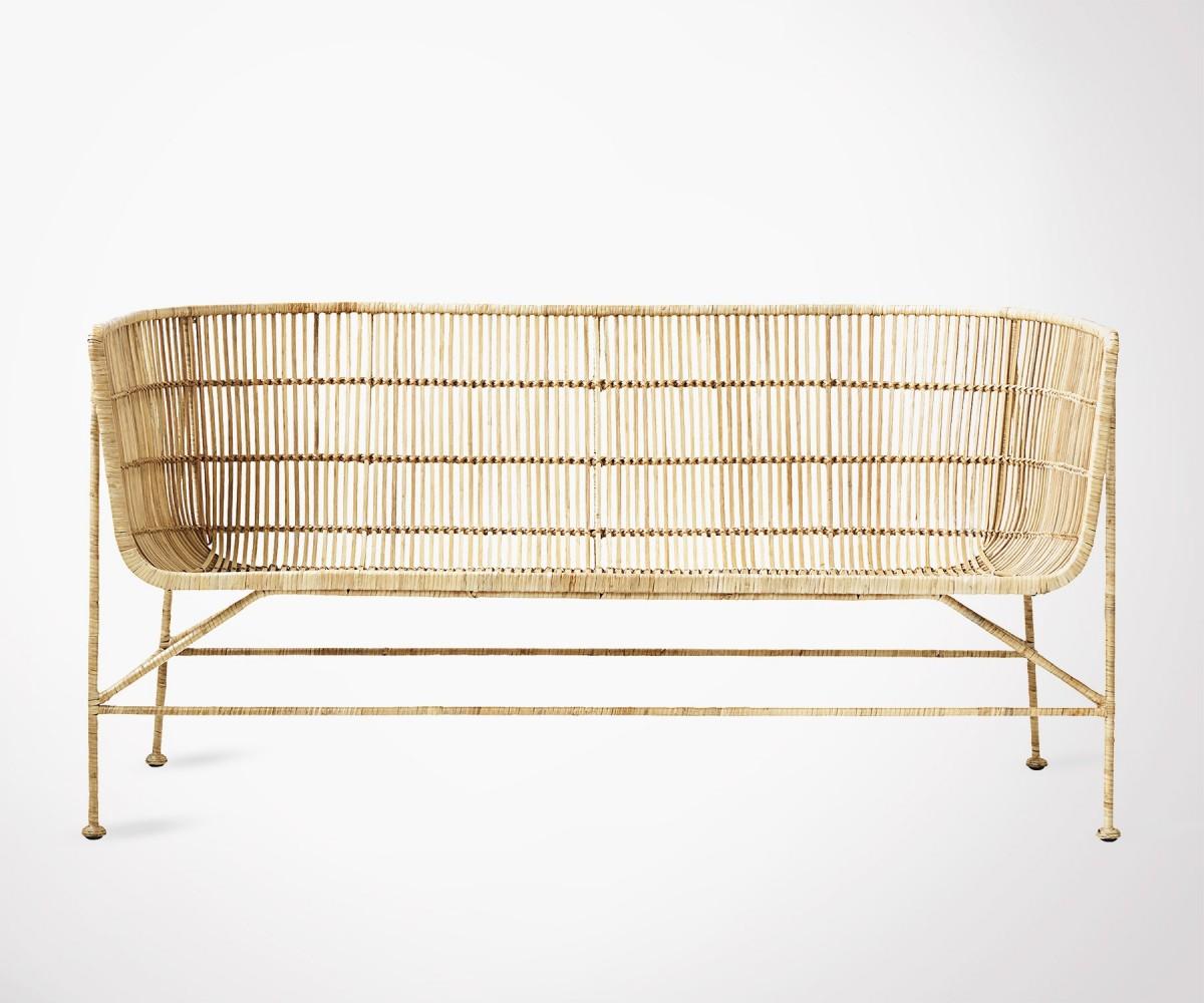 canap 2 places rotin naurel haut de gamme house doctor. Black Bedroom Furniture Sets. Home Design Ideas