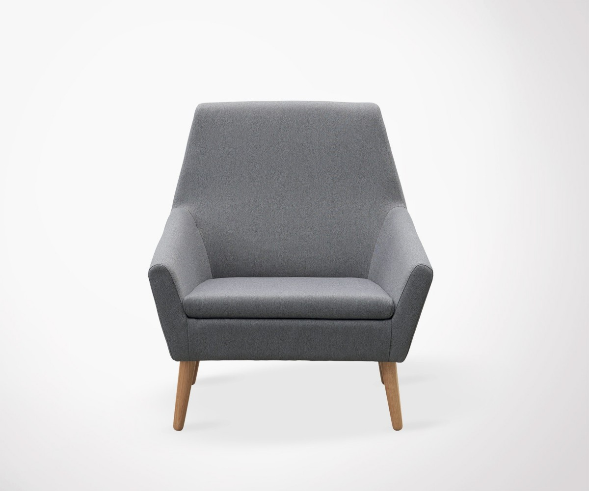 Nordic Dark Grey Upholstered Design Armchair House Doctor