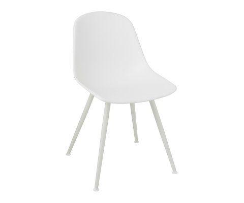 Chaise plastique blanc style moderne WHITE - J-line