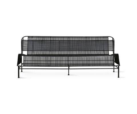 Canapé d'extérieur design en métal SAXI