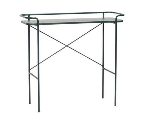 Console minimaliste en métal noir MILA