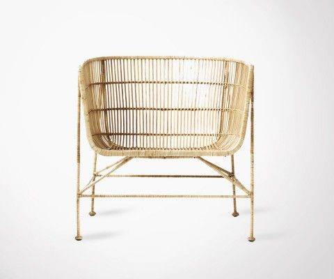 Natural Color Rattan Lounge Chair BOMOKO