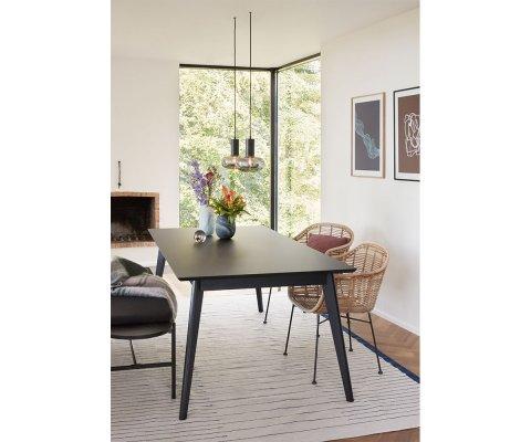 Table à manger en chêne noir 200x100cm ALBERTA