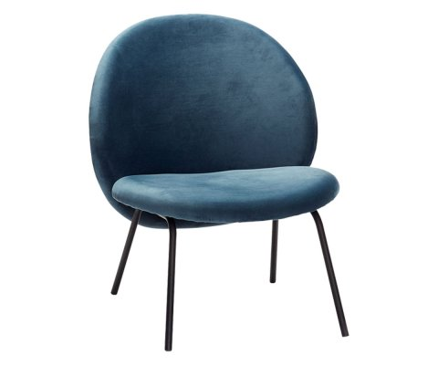 Fauteuil contemporain arrondi velours ROMO