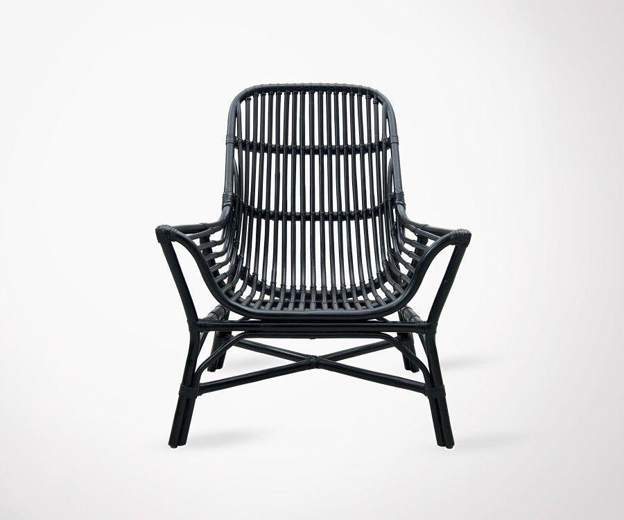 Fauteuil De Jardin Design En Rotin Noir House Doctor
