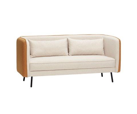 Canapé contemporain 2 places en tissu bicolor APOLON