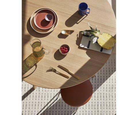 Table à manger scandinave ronde 115cm ZURA